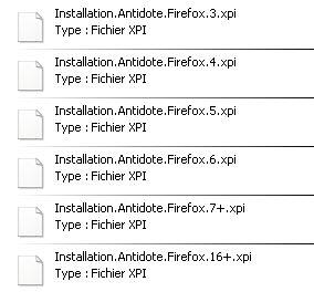 Antidote et Firefox