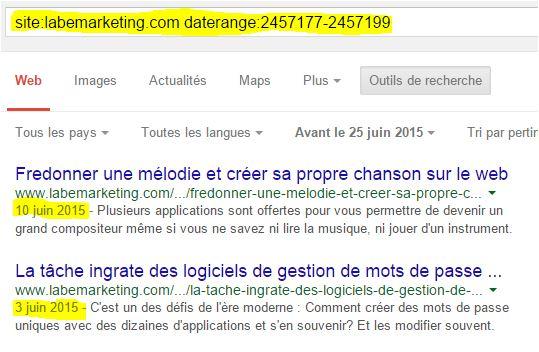 Recherche Google par date 3 juin 2015 au 25 juin 2015